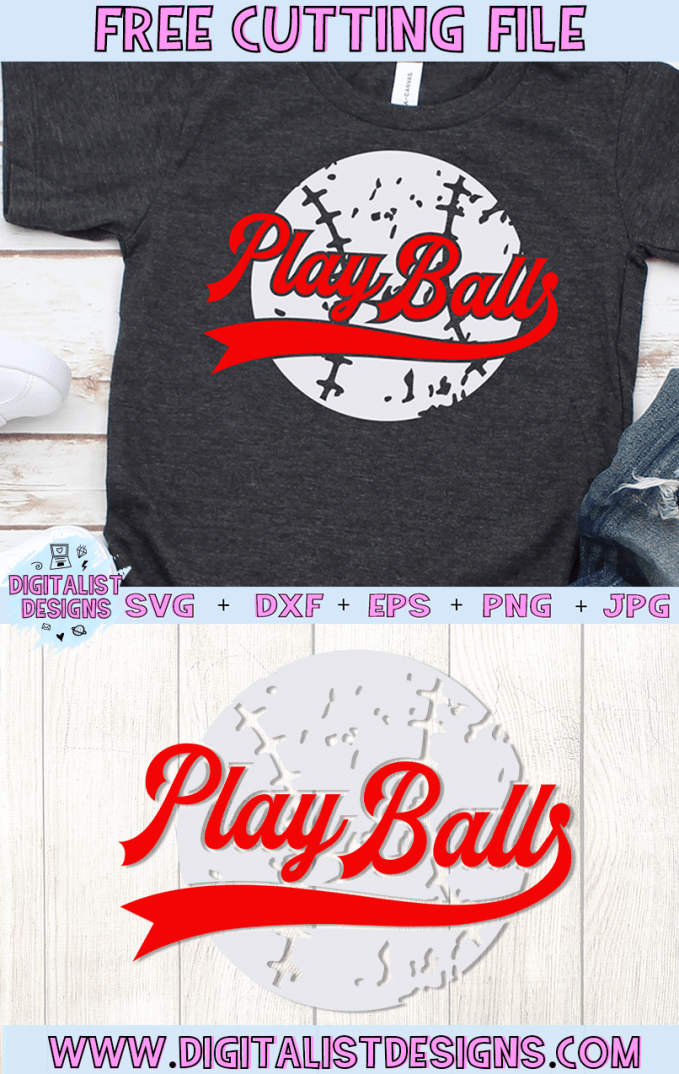 Free Baseball SVG cut file! This would be amazing for a variety of DIY Sports craft projects such as: HTV T-shirts, mugs, home decor, scrapbooking, stickers, planners, and more! Cricut Design Space and Silhouette Studio compatible. Vector clip art printable.