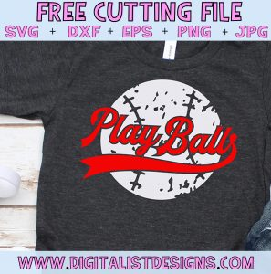 Free Play Ball Baseball SVG