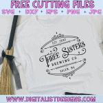 Free Three Sisters Brewing Company SVG cut File | Free Hocus Pocus SVG files for Cricut & Silhouette | Halloween SVG