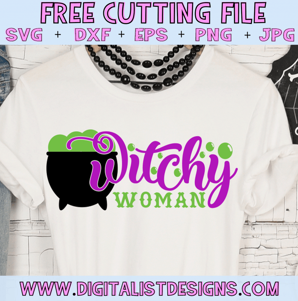 Free Witchy Woman SVG cut file! This would be amazing for a variety of DIY Halloween craft projects such as: HTV T-shirts, mugs, home decor, scrapbooking, stickers, planners, and more! Cricut Design Space and Silhouette Studio compatible. Vector clip art printable.