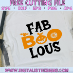 Free Fab Boo Lous SVG cut file! This would be amazing for a variety of DIY Halloween craft projects such as: HTV T-shirts, mugs, home decor, scrapbooking, stickers, planners, and more! Cricut Design Space and Silhouette Studio compatible. Vector clip art printable.