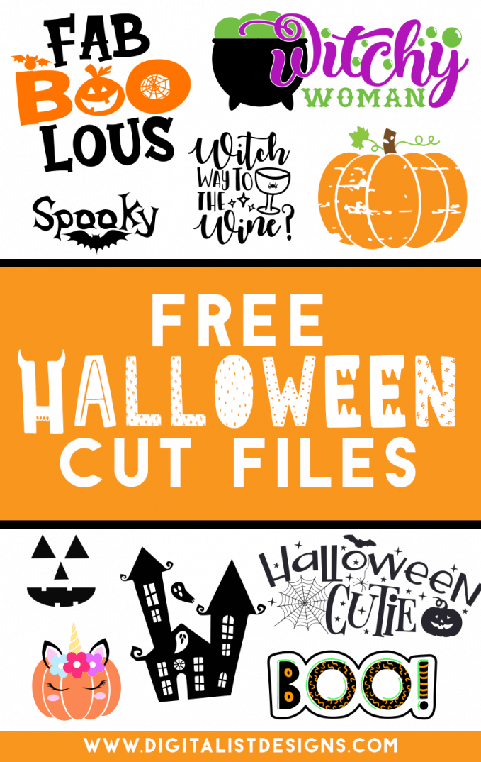 Tons of FREE Halloween SVG cut files! Make t-shirts, accessories, decorations, and more with these cut files!
