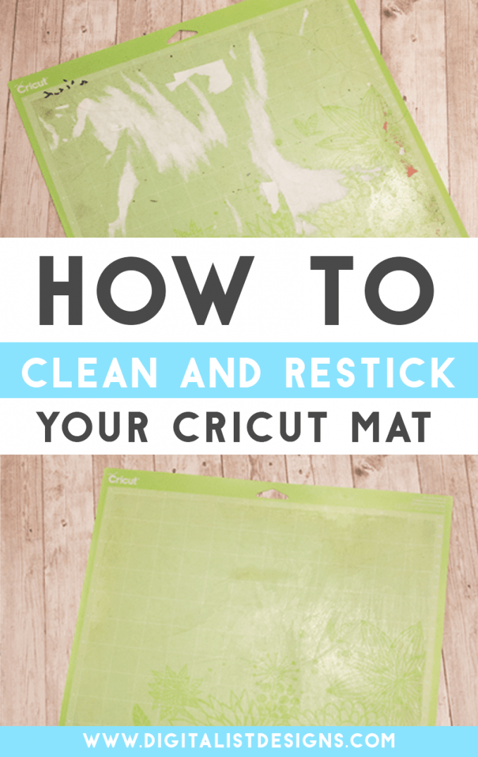 You can save so much money by doing this easy Cricut hack! Save money on your Cricut projects by learning how to clean and restick your Cricut mats using this simple tutorial!