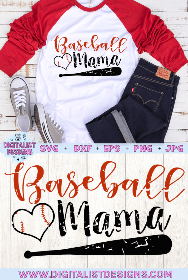Baseball Mama Grunge SVG cut File | Sports SVG files for Cricut & Silhouette