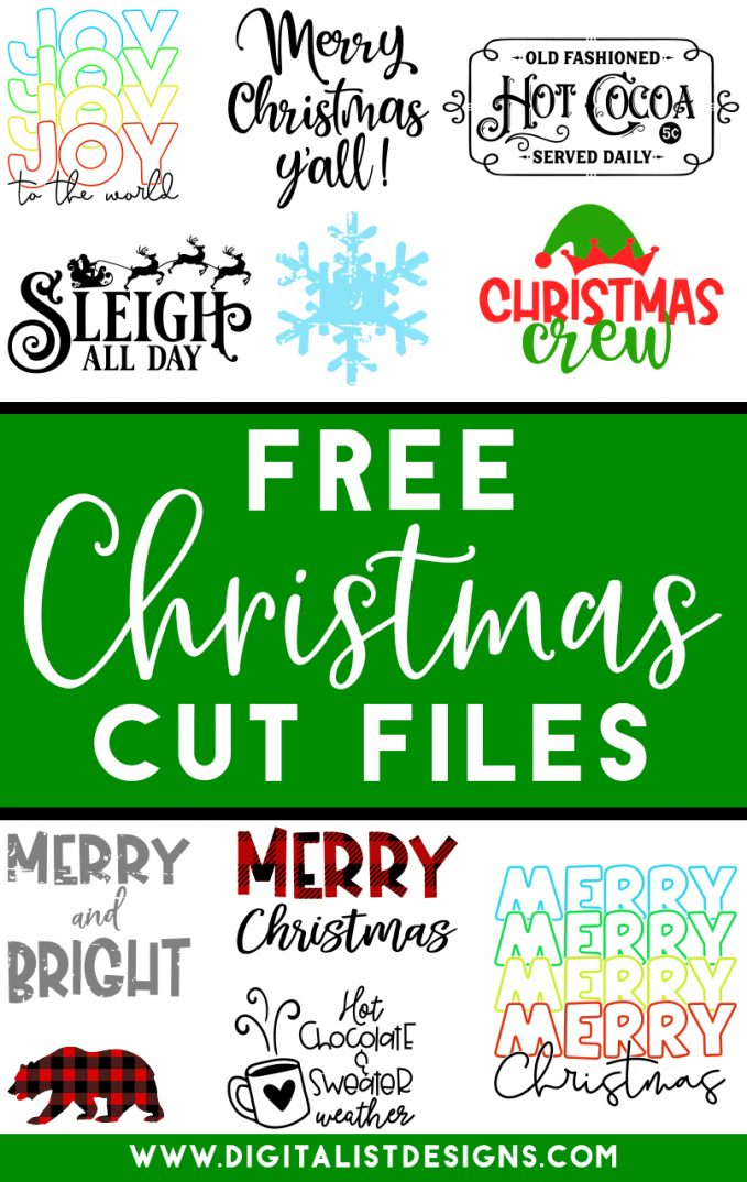 Tons of FREE Christmas SVG cut files! Make t-shirts, accessories, decorations, and more with these cut files!