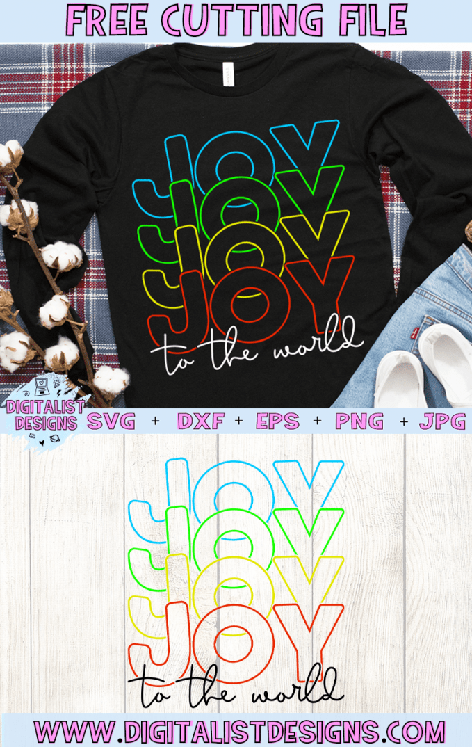 Free Joy to the World SVG cut File | Free Christmas SVG files for Cricut & Silhouette