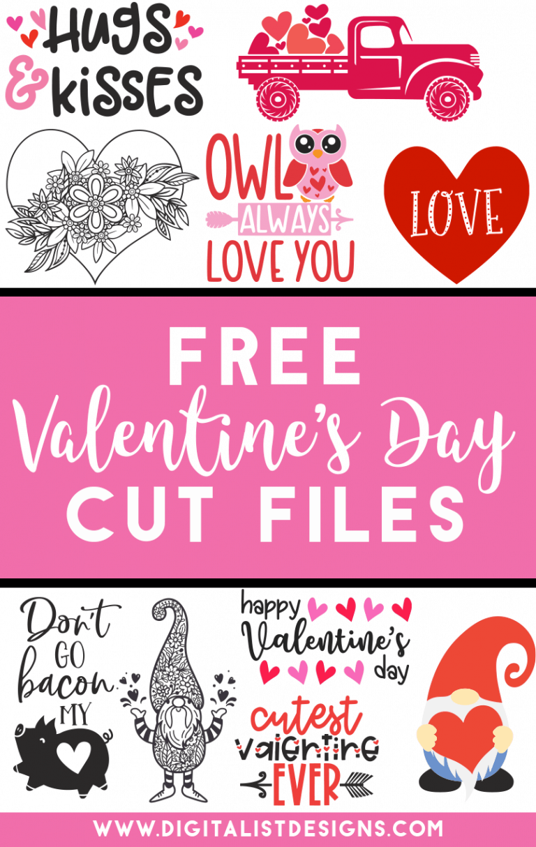 Tons of FREE Valentine's Day SVG cut files! Make t-shirts, accessories, decorations, and more with these cut files!