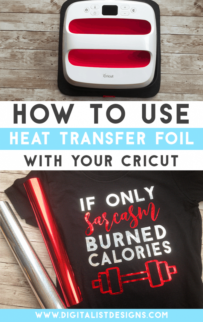 Heat transfer foil used with your Cricut Explore or Cricut Maker is a great way to add an eye catching element to designs! This tutorial will show you how to use Siser EasyWeed Adhesive with heat transfer foil + show you some tips & tricks for the Cricut Easy Press.