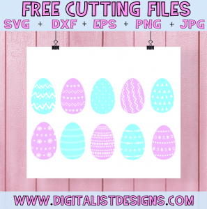 Free Handmade Easter Eggs SVG cut files! This would be amazing for a variety of DIY Easter craft projects such as: HTV T-shirts, mugs, home decor, scrapbooking, stickers, planners, and more! Cricut Design Space and Silhouette Studio compatible. Free Easter SVG File.