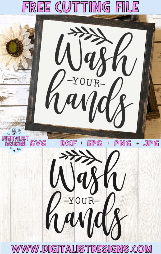 Free Wash Your Hands SVG cut file! This would be amazing for a variety of DIY boho craft projects such as: HTV T-shirts, mugs, home decor, scrapbooking, stickers, planners, and more! Cricut Design Space and Silhouette Studio compatible. Free Bathroom SVG File.