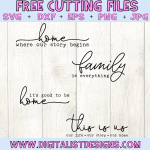 Free Family Sign SVG Bundle
