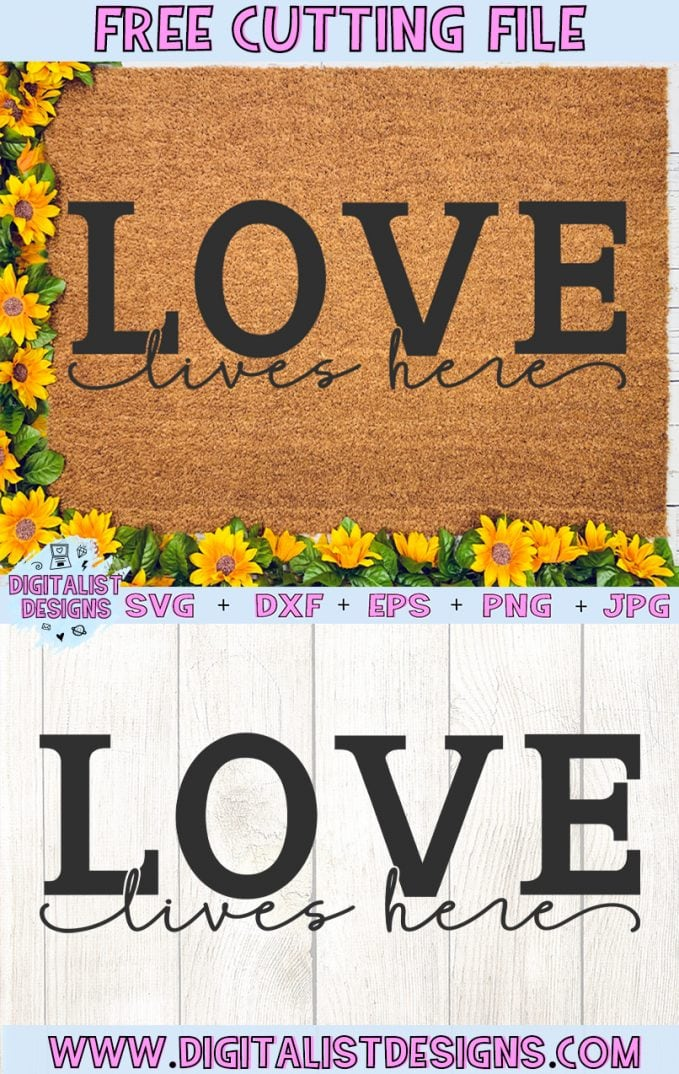 Free Love Lives Here SVG cut File | Valentine's Day Free SVG files for Cricut & Silhouette