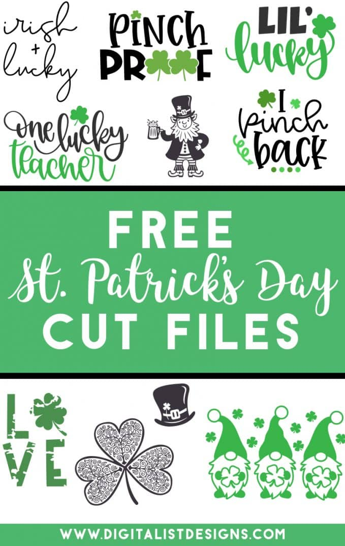 List of free St. Patrick's Day SVG files for Cricut, Silhouette, Glowforge, as well other vinyl and laser cutting machines. Make t-shirts, decorations, gifts, and more with these free SVG files.
