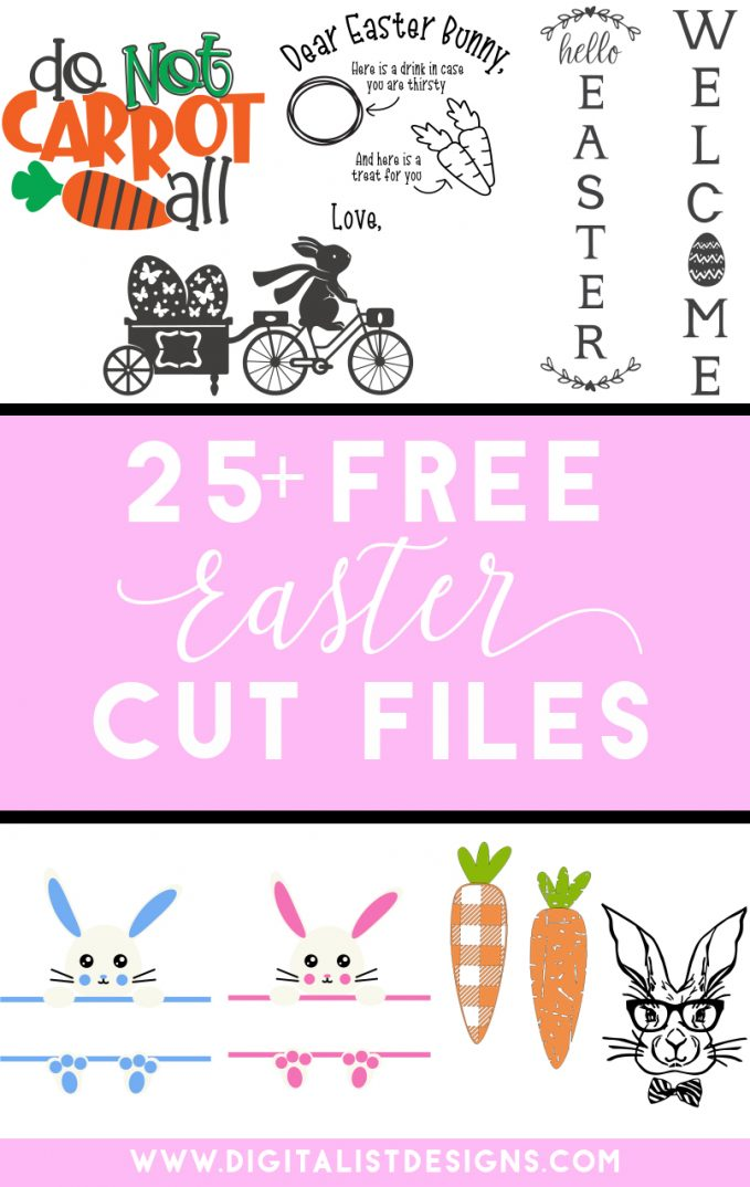 List of free Easter SVG files for Cricut, Silhouette, Glowforge, as well other vinyl and laser cutting machines. Make t-shirts, decorations, gifts, and more with these free SVG files.