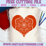 Free Heart Mandala SVG cut File | Mandala Free SVG files for Cricut & Silhouette