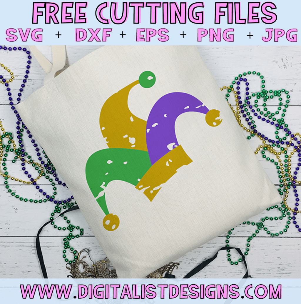Free Mardi Gras SVG cut file! This would be amazing for a variety of DIY Mardi Gras craft projects such as: HTV T-shirts, mugs, home decor, scrapbooking, stickers, planners, and more! Cricut Design Space and Silhouette Studio compatible. Vector clip art printable.
