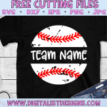 Free Baseball SVG cut files! This would be amazing for a variety of DIY Baseball craft projects such as: HTV T-shirts, mugs, home decor, scrapbooking, stickers, planners, and more! Cricut Design Space and Silhouette Studio compatible. Free Baseball Split Monogram SVG File.