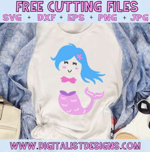 Free Mermaid SVG cut file! This would be amazing for a variety of DIY Summer and Mermaid craft projects such as: HTV T-shirts, mugs, home decor, scrapbooking, stickers, planners, and more! Cricut Design Space and Silhouette Studio compatible. Free Beach SVG File.