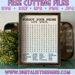 Forgot Your Phone Word Search SVG cut file! This would be amazing for a variety of Bathroom DIY craft projects such as: HTV T-shirts, mugs, home decor, scrapbooking, stickers, planners, and more! Cricut Design Space and Silhouette Studio compatible. Free vector clip art printable. Free Bathroom word search.