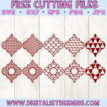 Free Arabesque Tiles Patterns SVG cut File Bundle | Christmas Free SVG files for Cricut & Silhouette