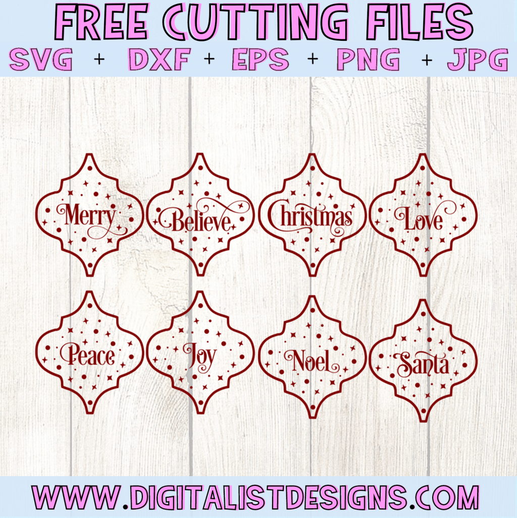 Free Arabesque Tiles SVG cut File Bundle | Christmas Free SVG files for Cricut & Silhouette