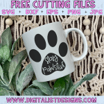 Free Stay Pawsitive SVG cut file! This would be amazing for a variety of DIY Animal craft projects such as: HTV T-shirts, mugs, home decor, scrapbooking, stickers, planners, and more! Cricut Design Space and Silhouette Studio compatible. Vector clip art printable.