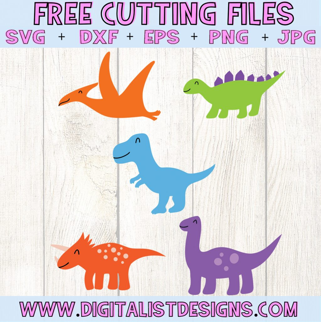 Free Dinosaur SVG cut file Bundle! This would be amazing for a variety of Kids DIY craft projects such as: HTV T-shirts, mugs, home decor, scrapbooking, stickers, planners, and more! Cricut Design Space and Silhouette Studio compatible. Free vector clip art printable.