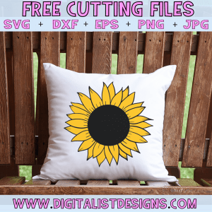 Free Sunflower SVG cut file! This would be amazing for a variety of Summer DIY craft projects such as: HTV T-shirts, mugs, home decor, scrapbooking, stickers, planners, and more! Cricut Design Space and Silhouette Studio compatible. Free vector clip art printable.