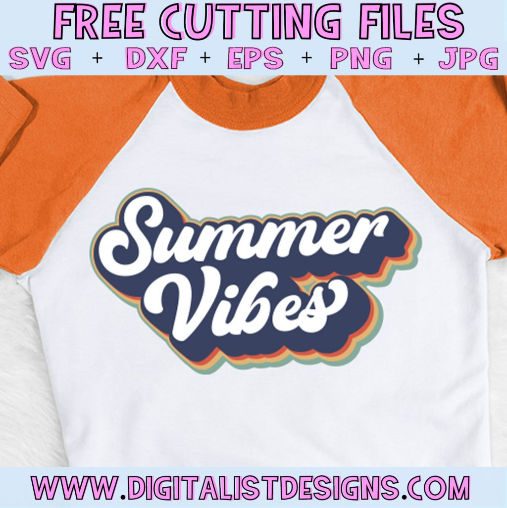 Summer Vibes SVG cut File | Summer SVG files for Cricut & Silhouette