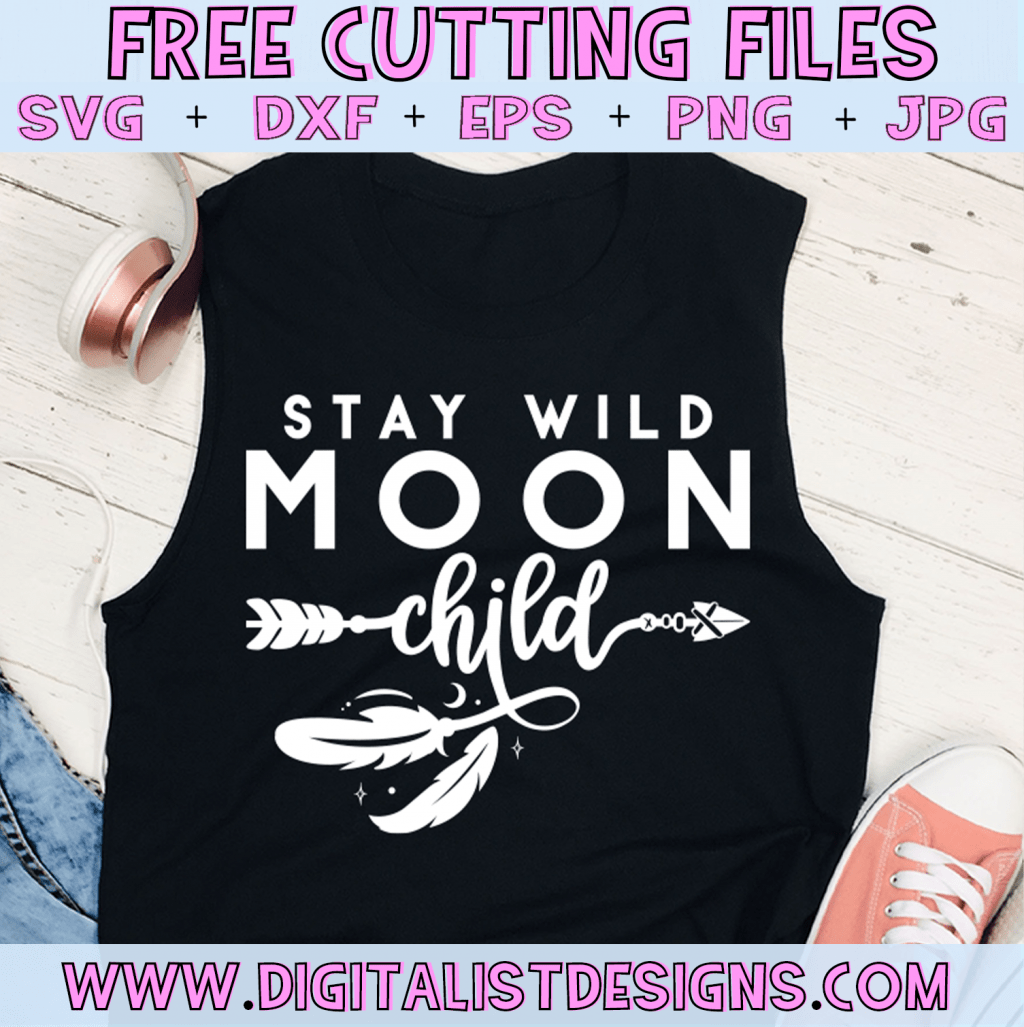 Free Stay Wild Moon Child SVG cut File | Free Witchy Boho SVG files for Cricut & Silhouette